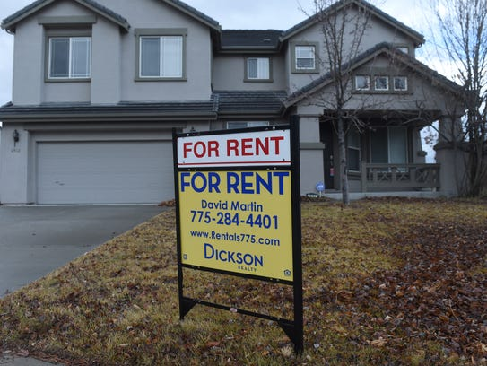 A house is advertised for rent in Wingfield Springs