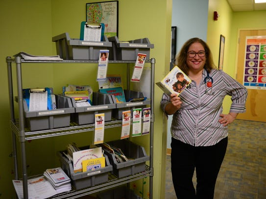 Dr. Stacey Fox started the Reach out & Read program at Beacon in February 2016. Patients at Beacon receive a free book for every well visit between the ages of 6 months and 5 years.