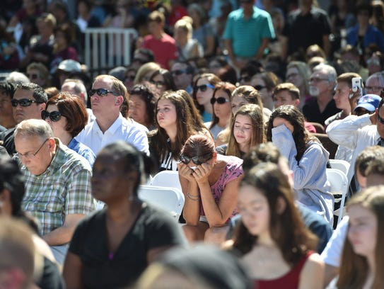 Hundreds gathered at a prayer vigil for the shooting