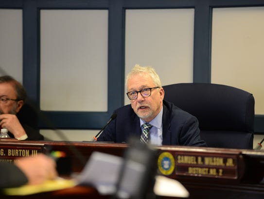 Sussex County Council member Irwin G. Burton III asks