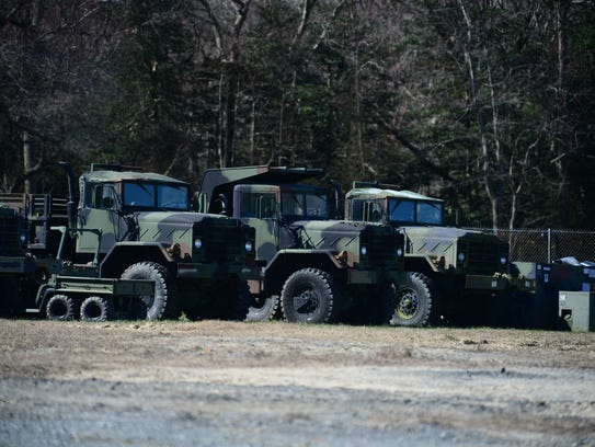 A few of the Federal Surplus vehicles that The Dewey