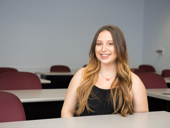 Olivia Thompson, 20, is an accounting major at Northwestern