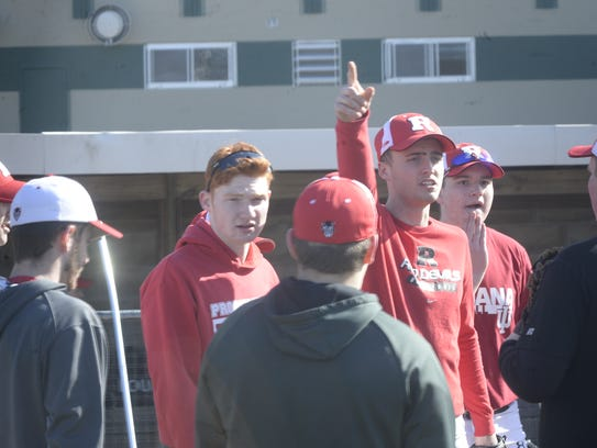 The Richmond High School baseball team practices on