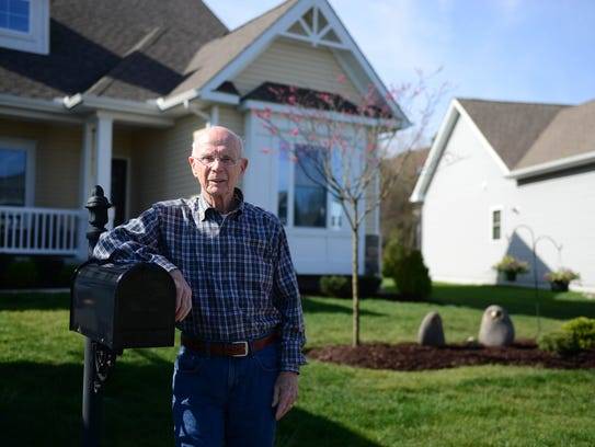 Hal Solomon stands in front of his home located in Fairway Village in Ocean View, Del. on Thursday, April 26, 2018.