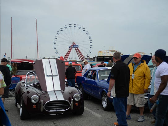Crusin' Ocean City at the Inlet Parking lot on Saturday,