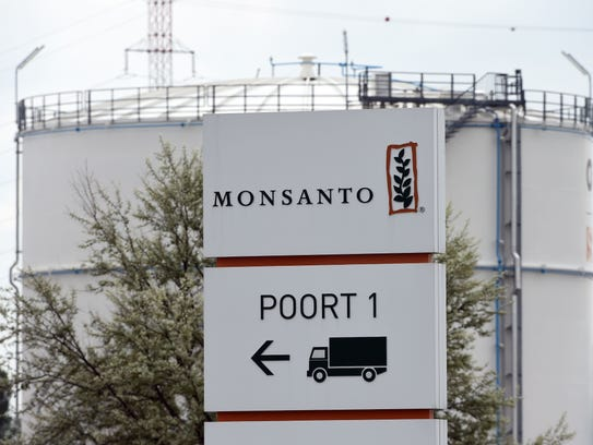 File photo taken in 2016 shows the Monsanto logo in