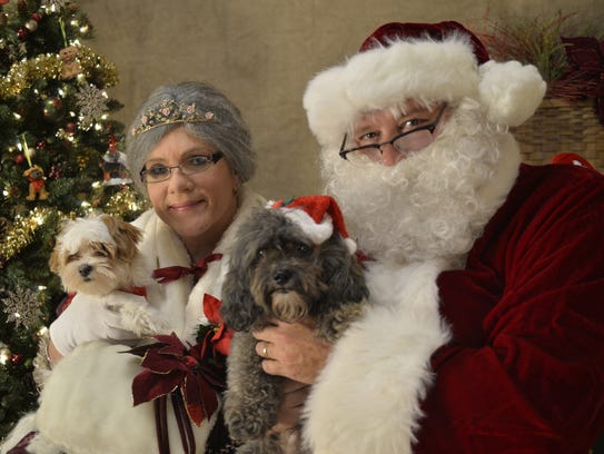clark county humane societys annual pet pictures with - Pictures With Santa Claus