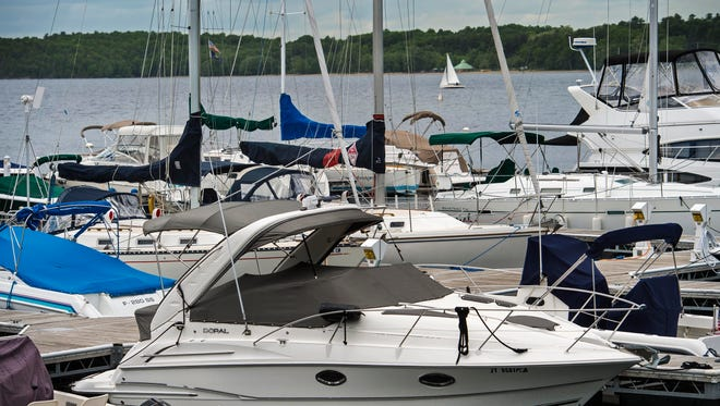 Boats fill slips near the Boat House in Burlington on Monday, June 6, 2016.  Available boat slips are at a premium in Burlington harbor.