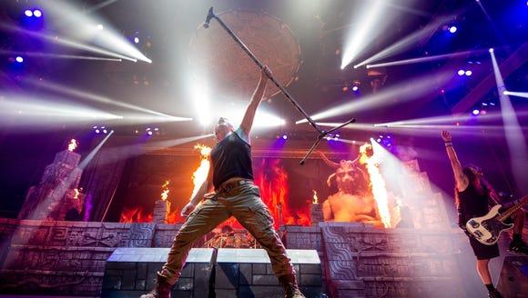 British heavy-metal group Iron Maiden performs June