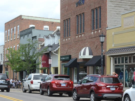 "A typical day on Northville's Center St., looking north from Main. Northville was recently named the ""snobbiest"" city in Michigan by the website RoadSnacks."