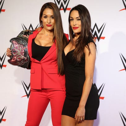 Brie and Nikki Bella, known as the Bella Twins, will