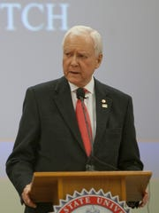 Senator Orrin Hatch at the Lincoln Day Breakfast Saturday,