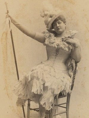 Actress Lillian Russell exemplified the ever-evolving ideals of late 19th century female fashions. Wayne County women naturally followed suit.