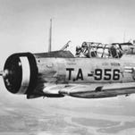 THEN: The Grumman AT-6 trainer was the first plane to be used at Luke Air Force Base during World War II. More than 17,000 pilots were trained at the base during the war and future U.S. Sen. Barry Goldwater served as director of ground training.