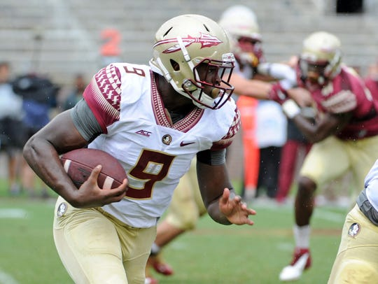 Jacques Patrick had a strong spring game for the Seminoles.