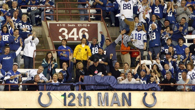 The 12th Man joined the ring of honor at the RCA Dome in 2007.