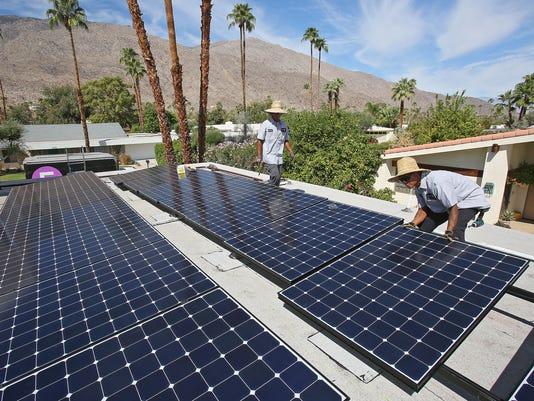 Editorial photo rooftop solar