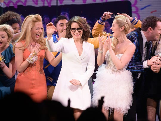 "Tina Fey and the cast of ""Mean Girls"" are seen at the"