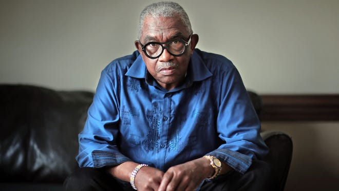 Curtis Williams, 71, was 21 when MLK Jr was killed. Now a bail bondsman, he laments the growing number of youths who eschew the non-violence that King preached and commit crimes driven by poverty and misguidance.