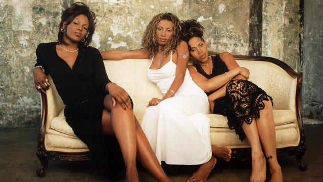 Brownstone singers from left:  Kina (Kina Cosper),  Maxee (Charmayne Maxwell) and Nicci (Nichole Gilbert) in 1997.