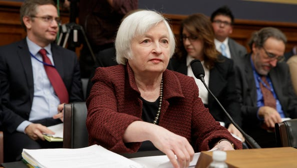 Federal Reserve Chair Janet Yellen testified on Capitol
