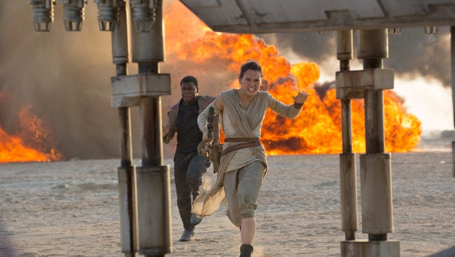"""A scene from """"Star Wars: The Force Awakens."""""""