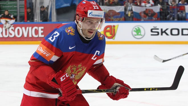 Pavel Datsyuk skates in the world championships last month.