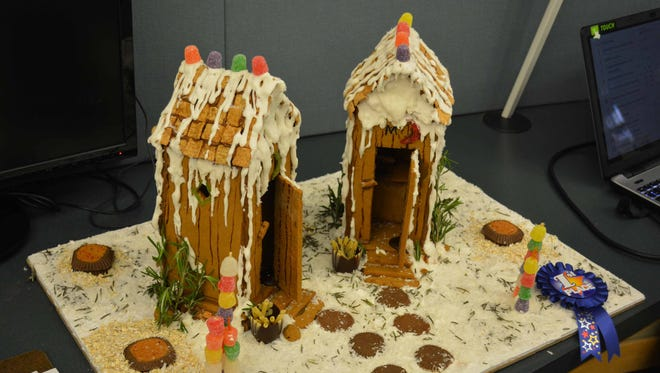 First-place winner of the gingerbread contest is Alexandra Walton, a baker.