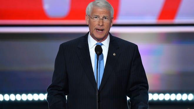 Sen. Roger Wicker, R-Miss., chairman of the National Republican Senatorial Committee, speaks during the 2016 Republican National Convention.