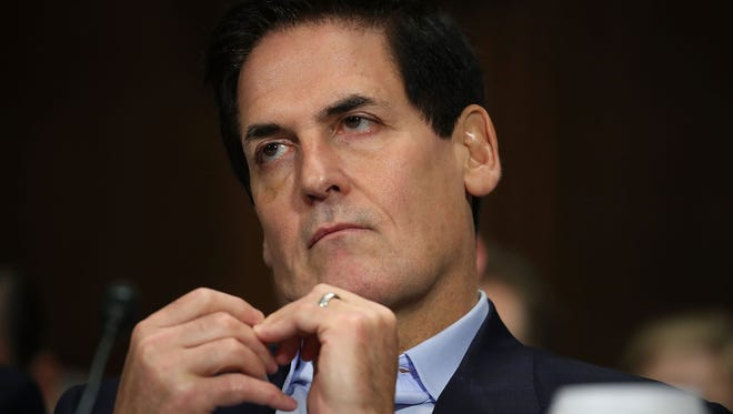 Mark Cuban, chairman of AXS TV and owner of the Dallas Mavericks, listens to testimony during a Senate Judiciary Subcommittee hearing Dec. 7, 2016 in Washington, DC.