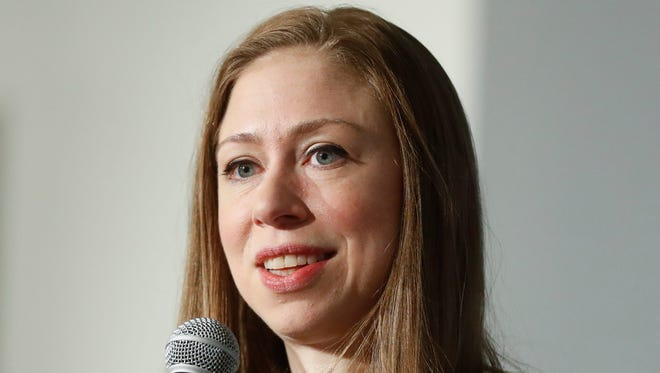 In this Oct. 26, 2016, file photo, Chelsea Clinton speaks in Cincinnati.