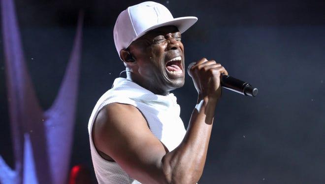 Detroit R&B singer Kem performs at Chene Park on Saturday, June 25, 2016, in Detroit.