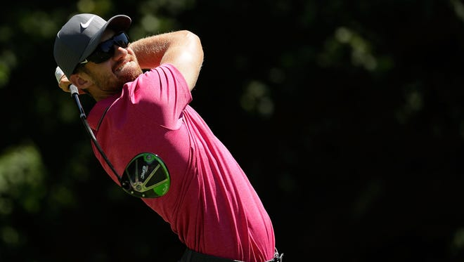 SILVIS, IL - JULY 15:  Patrick Rodgers hits his tee shot on the second hole during the third round of the John Deere Classic at TPC Deere Run on July 15, 2017 in Silvis, Illinois.  (Photo by Andy Lyons/Getty Images)