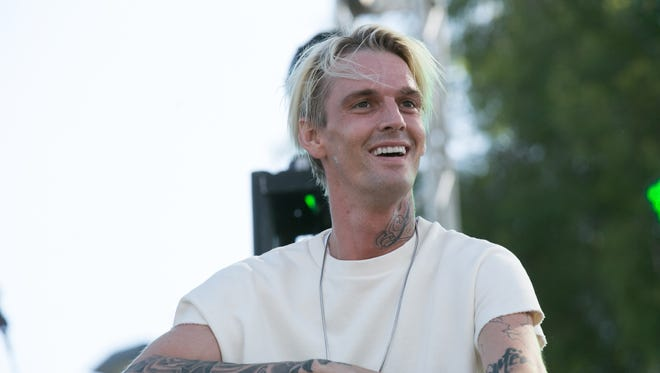 Aaron Carter, at the LA Pride Music Festival And Parade 2017 in June, performed at a gay club.