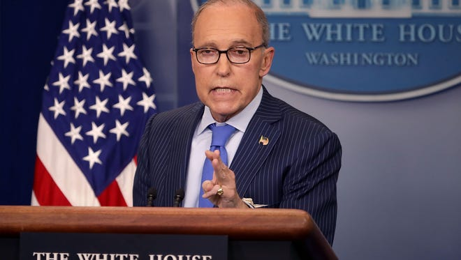 White House National Economic Council Director Larry Kudlow holds a news briefing about the upcoming G-7 meetings in the Brady Press Briefing Room at the White House June 6, 2018, in Washington, D.C.