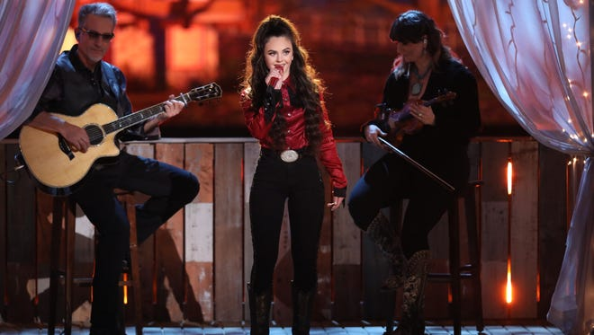 """Chevel Shepherd sings """"You're Lookin' at Country"""" on Monday night's episode of NBC-TV's """"The Voice."""""""