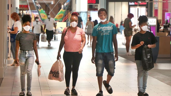 Shoppers cruise the Volusia Mall in Daytona Beach on Monday July 6, 2020. Mall owner CBL & Associates recently missed two big loan payments because of the coronavirus pandemic that forced most of its malls to be closed in late March and April.