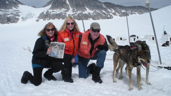 Sherwood, Max and Shannon Storbeck from St. Cloudduring their trip to Alaska.