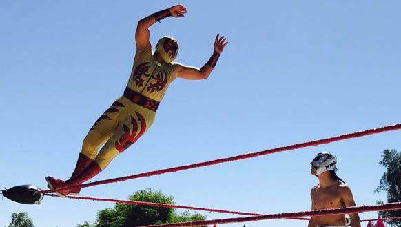 Professional Mexican wrestlers with Lucha Libre Voz will perform their final touring match of the year at The Taco Festival in Lafayette.