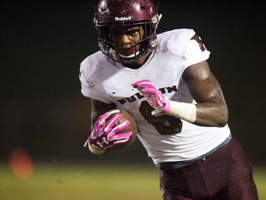 Fulton's DeShawn Page on a run against Campbell County