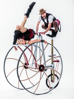 """Cirque Mechanics' show """"Pedal Punk"""" rides into The State Theatre of Ithaca on Sunday."""