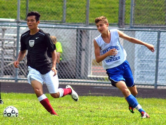 Hawthorne Christian's David Falcon (right) was one of the team's top scorers this season.