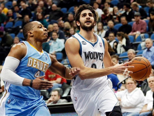 Timberwolves Rubio Basketball