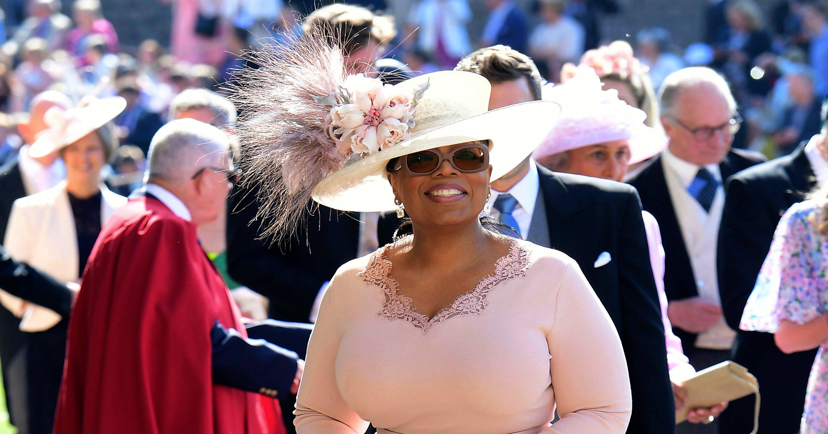 a6ddac9ba9b94 Oprah almost had a fashion faux pas at the royal wedding