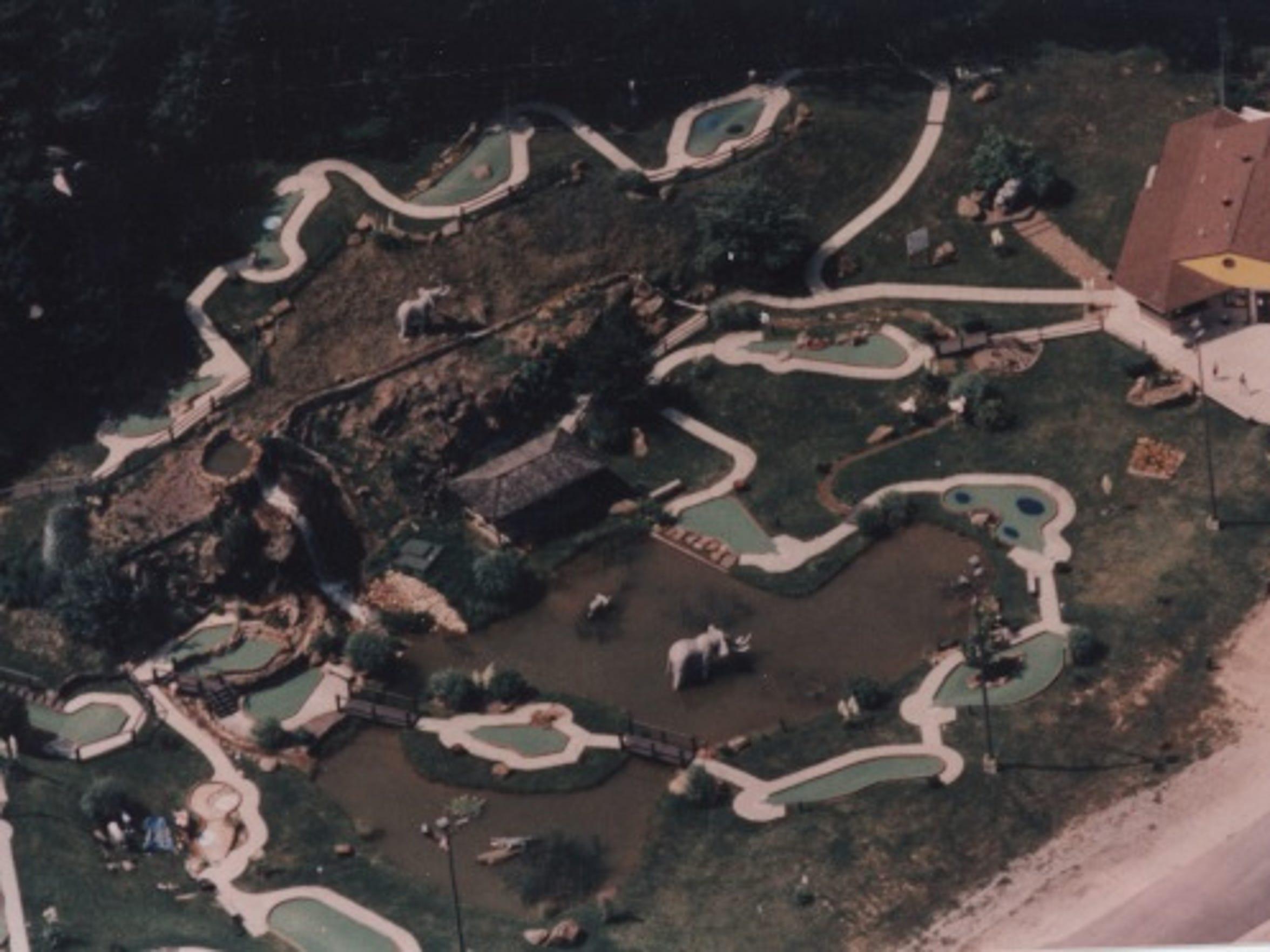 An aerial view of Tropical Gardens Mini Golf before