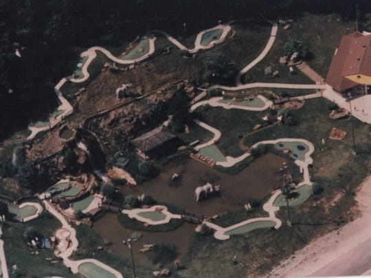 An aerial view of Tropical Gardens Mini Golf before Mark Zimmerman took over the business 25 years ago.