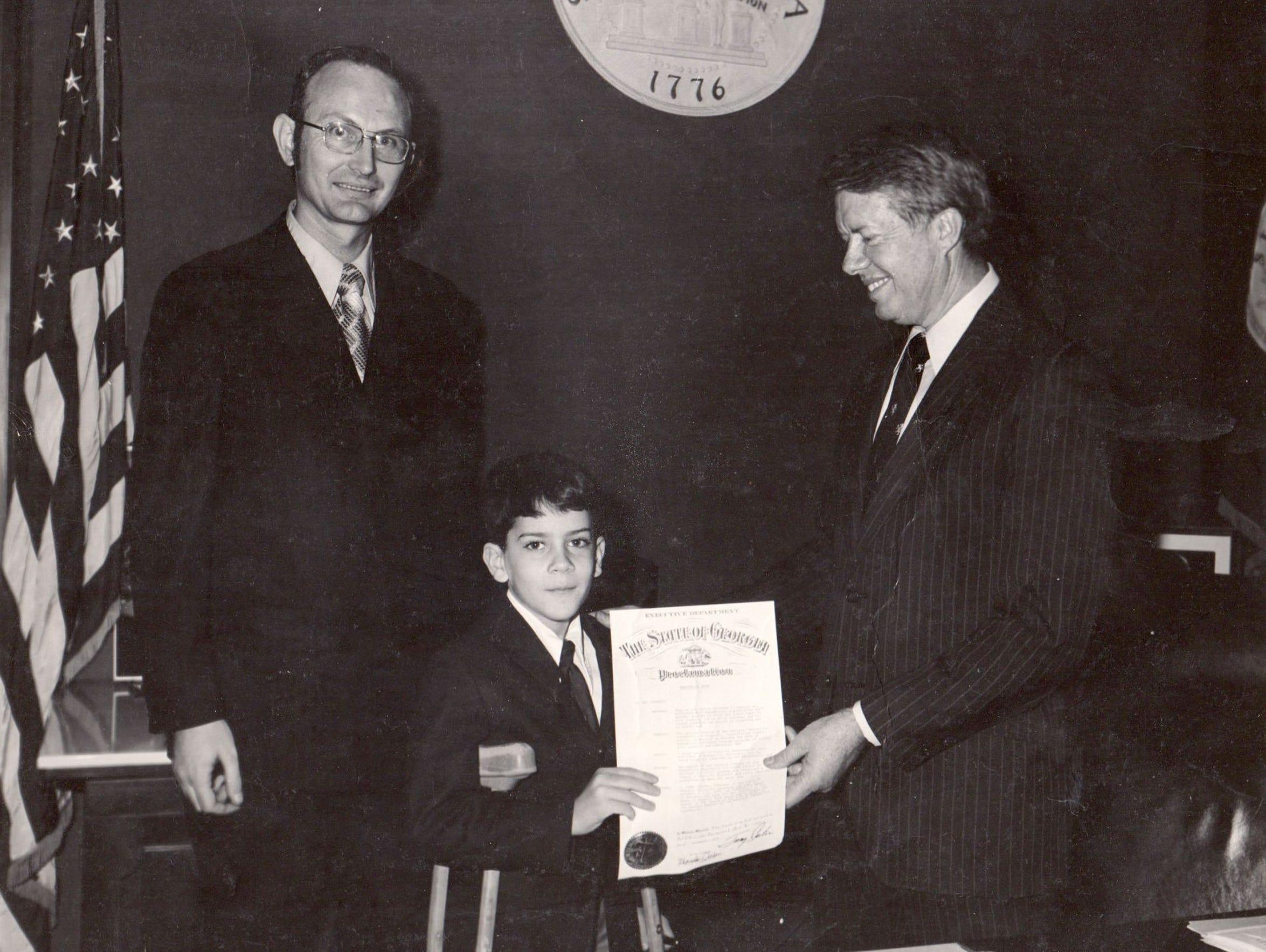 In October 1971, Jim Reed, age 8, met then-Georgia
