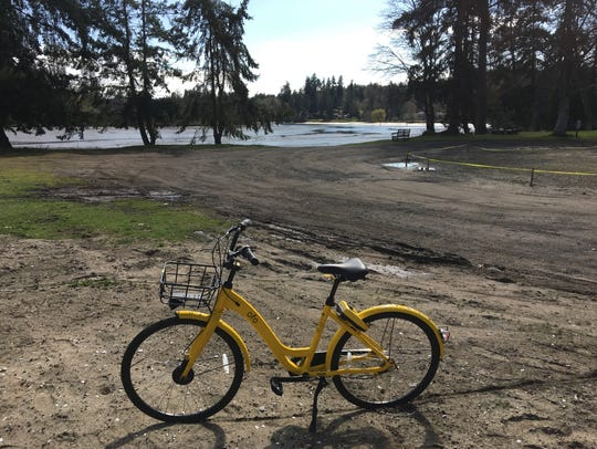 Most of the bike-share bicycles stay in Seattle but