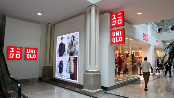 Uniqlo's store in the Bridgewater Commons Mall in Bridgewater. The Japanese clothing retailer is coming to Freehold Raceway Mall.