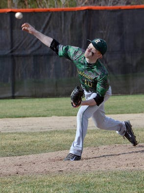 Howell righthander Chris Ackerman pitched a complete-game shutout to help the Highlanders secure a 2-0 win over Grand Blanc on Wednesday.